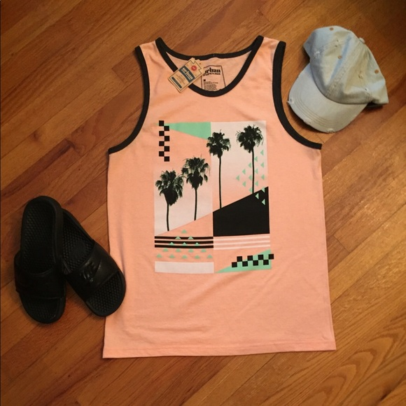 urban pipeline Other - Throwback Style Tank, Orange w/ Palm Tree 🌴